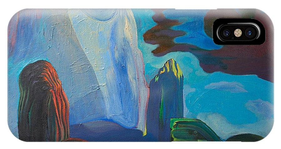 Landscape IPhone X Case featuring the painting Landscape 32 by Fernando Alvarez