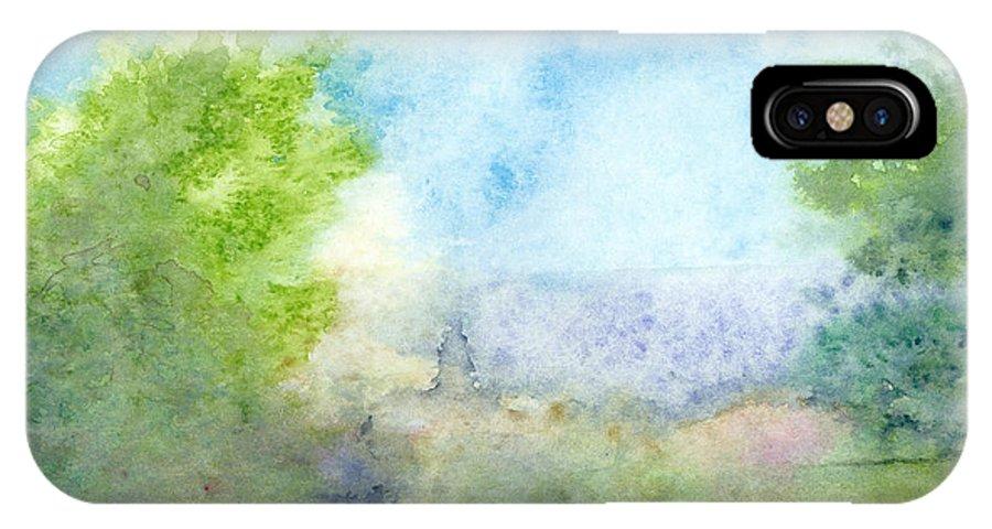 Landscape IPhone X Case featuring the painting Landscape 4 by Ingela Christina Rahm