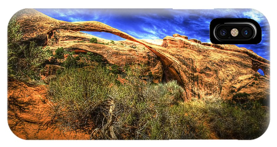 Arches National Park IPhone X Case featuring the photograph Landscape Arch by Fred Adsit