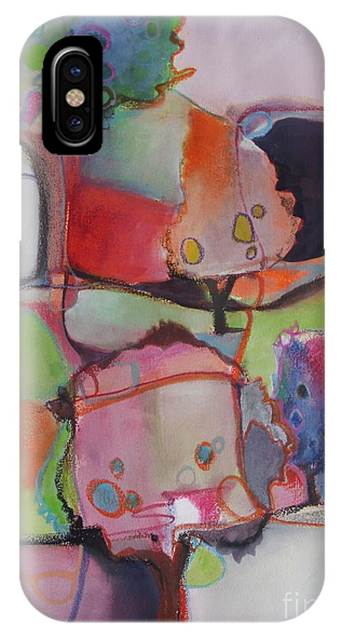 Trees IPhone X Case featuring the painting Landscape by Michelle Abrams