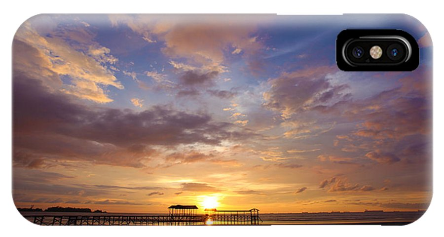 Sipitang Jetty IPhone X Case featuring the photograph Landscapes by Lawrence Chung