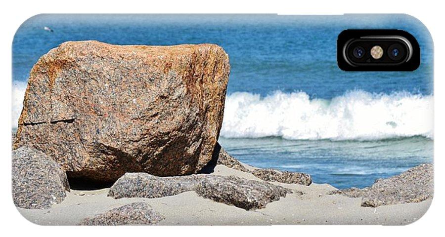 Granite Rocks; Langebaan Lagoon; Beach; Seascape; South Africa; West Coast; Atlantic Ocean; Blue; Sand; Summer; Warm; Background; Decorative; IPhone X Case featuring the photograph Langebaan Lagoon1 by Werner Lehmann
