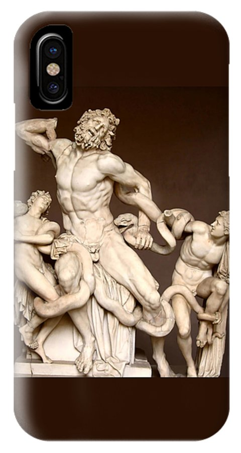 Laocoon And Sons IPhone X Case featuring the photograph Laocoon And Sons by Ellen Henneke