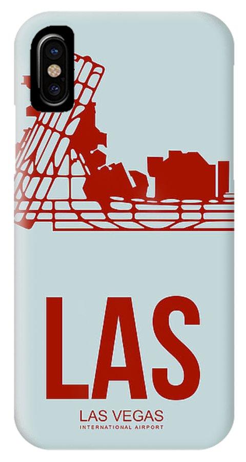 Las Vegas IPhone X Case featuring the digital art Las Las Vegas Airport Poster 3 by Naxart Studio