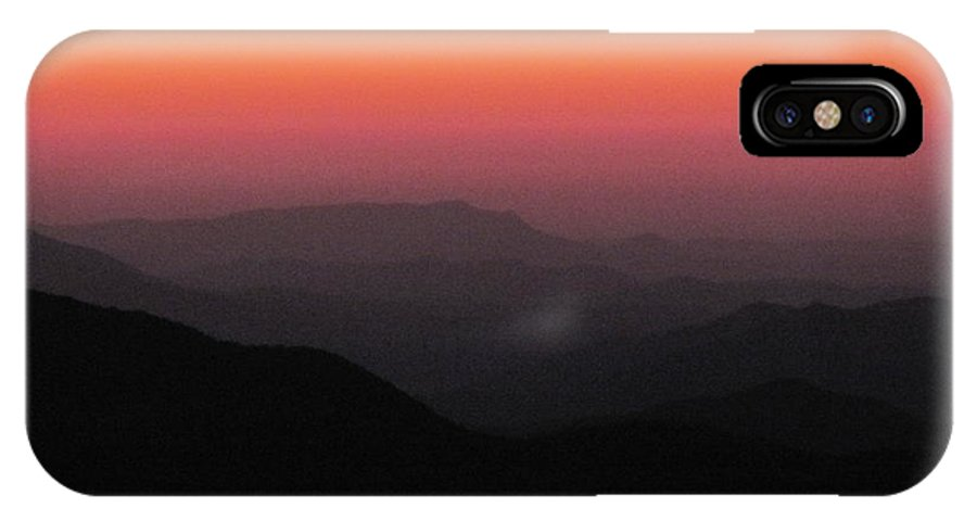 Intense Sunset IPhone X Case featuring the photograph Last Glimmer Of Light by Anita Adams