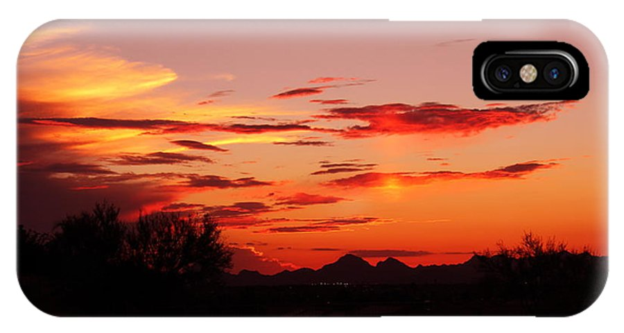 Last Night's Sunset IPhone X Case featuring the photograph Last Night's Sunset by Kume Bryant