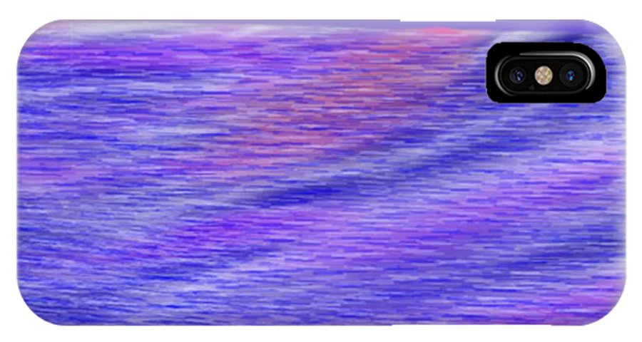 Sky.stars.sea.reflection.waves.evening.rest.silence. IPhone X Case featuring the digital art Last Ray Of Sun by Dr Loifer Vladimir