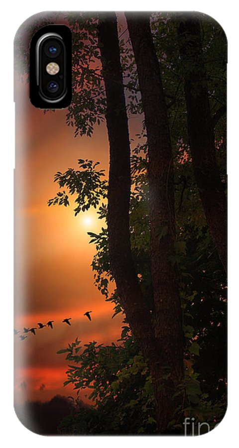 Sunset IPhone X Case featuring the photograph Late August Sunset by Tom York Images