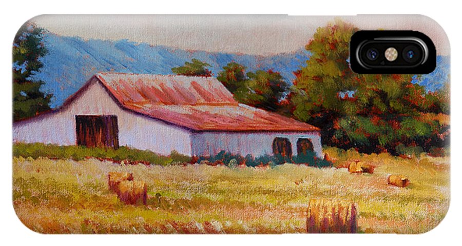 Impressionism IPhone Case featuring the painting Late Summer Hay by Keith Burgess