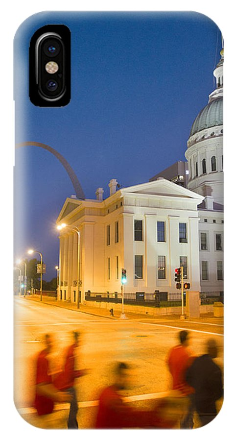 St Louis IPhone X Case featuring the photograph Late To The Game by Garry McMichael