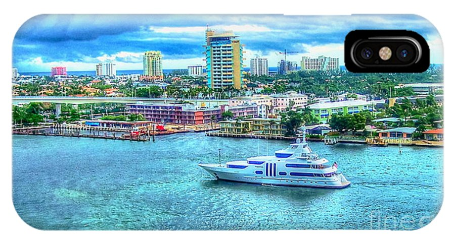 Ft. Lauderdale IPhone X / XS Case featuring the photograph Lauderdale by Debbi Granruth