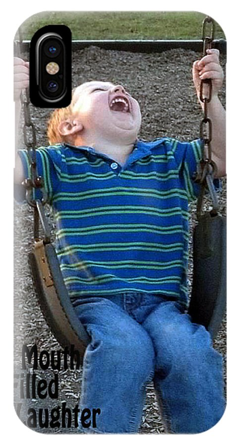Swinging IPhone X Case featuring the photograph Laughter In The Park by Lisa Jones