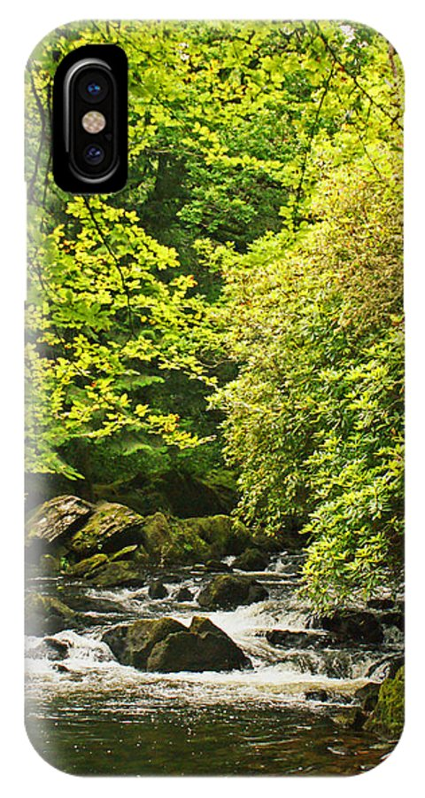 River IPhone X Case featuring the photograph Lauragh River West Cork by Simon Kennedy