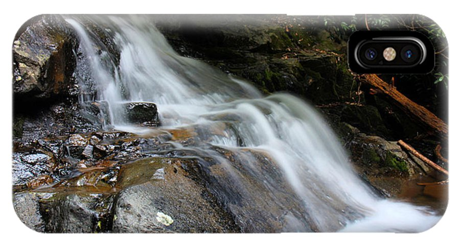 Waterfalls IPhone X / XS Case featuring the photograph Laurel Falls Great Smoky Mountains by Jerome Lynch