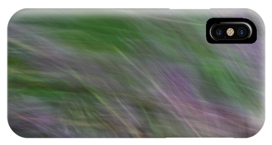 Lavender IPhone X Case featuring the photograph Lavendar Fields by Carolyn Jacob