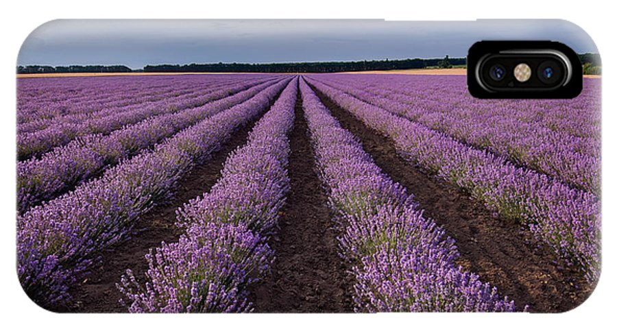 Lavender IPhone X Case featuring the photograph Lavender Field by Evgeni Ivanov