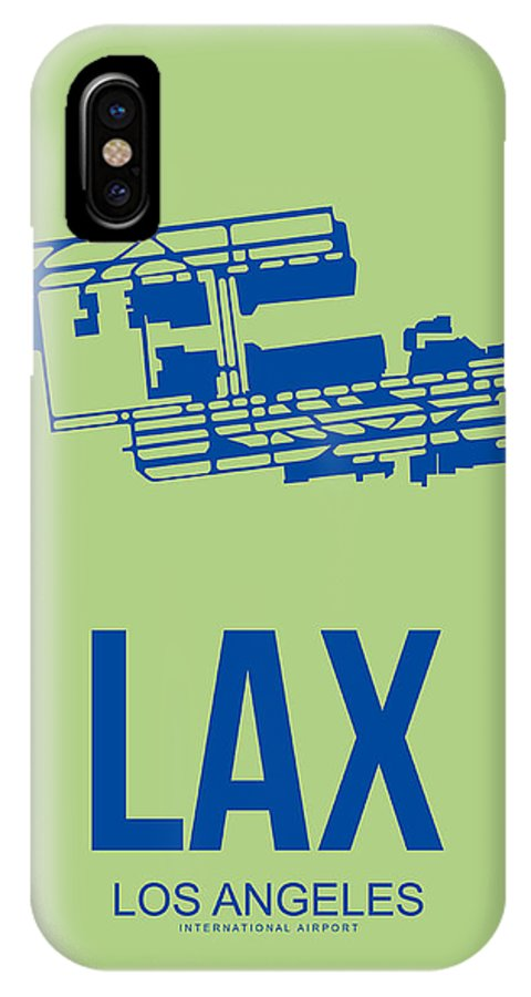 Los Angeles IPhone X Case featuring the digital art Lax Airport Poster 1 by Naxart Studio