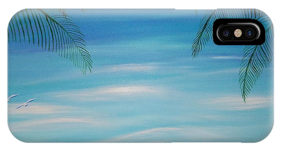 Beach IPhone X Case featuring the painting Lazy Day by Timothy Michaels Flores