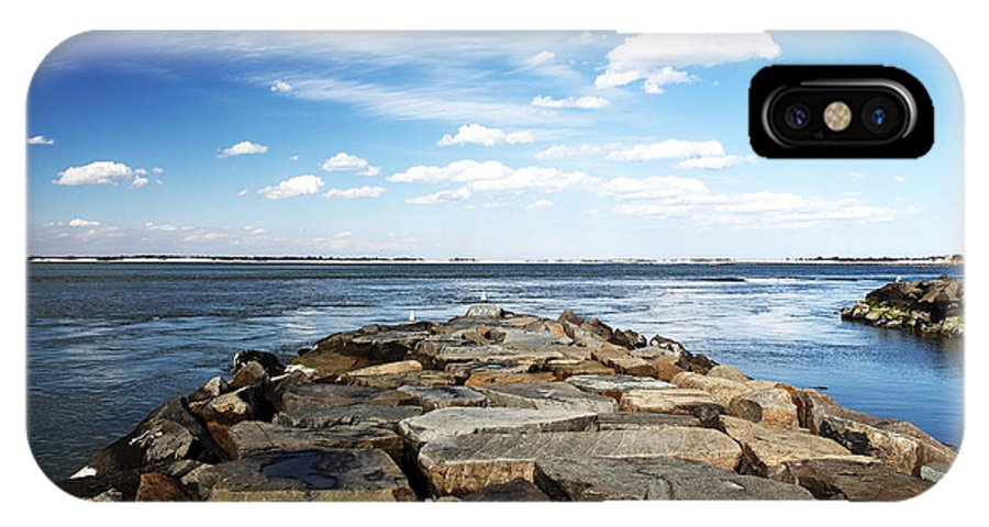 Lbi Bay Rocks IPhone X Case featuring the photograph Long Beach Island Bay Rocks by John Rizzuto