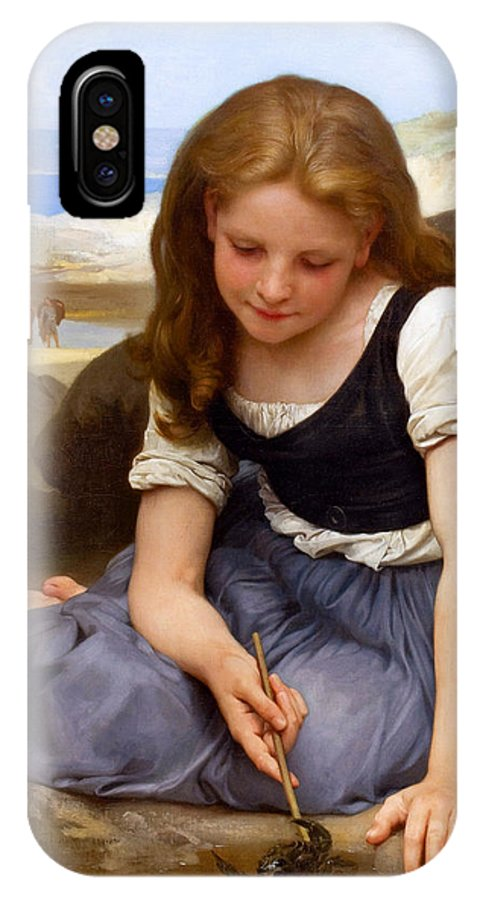 Le Crabe IPhone X Case featuring the painting Le Crabe by William-Adolphe Bouguereau