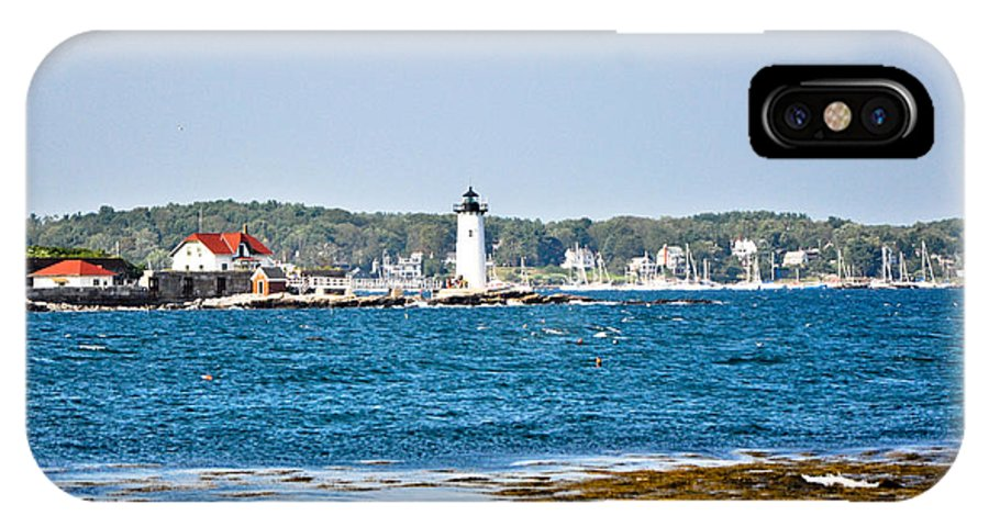 Lighthouse IPhone X Case featuring the photograph Leading The Way To New Castle by Eryn Carter