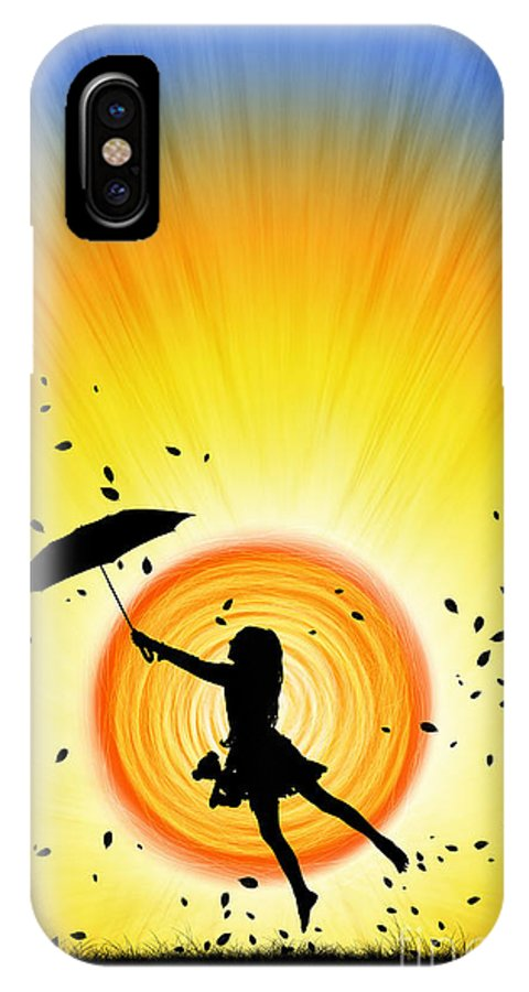 Girl IPhone X Case featuring the photograph Learning To Fly by Tim Gainey