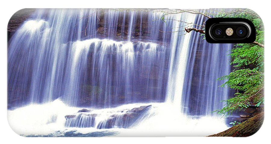 West Virginia IPhone X Case featuring the photograph Leatherwood Falls by Thomas R Fletcher