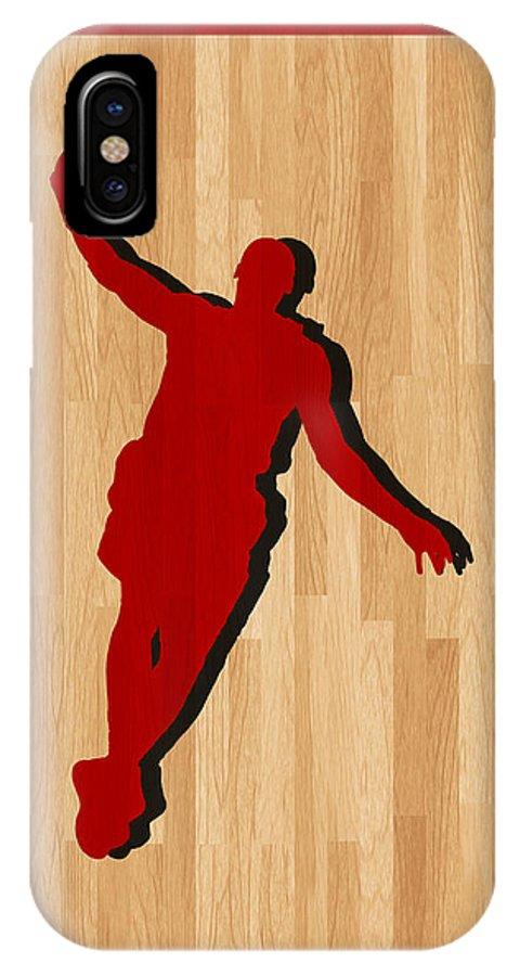 James IPhone X Case featuring the photograph Lebron James Miami Heat by Joe Hamilton