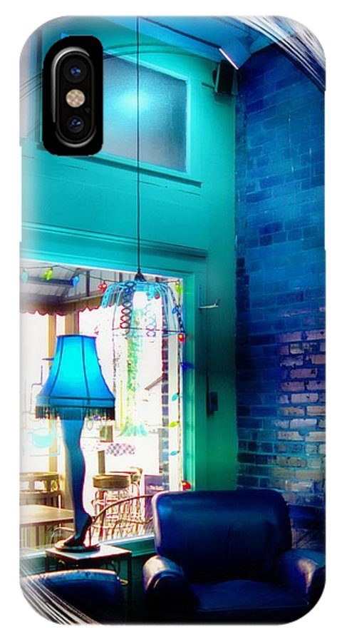 Wall IPhone X Case featuring the painting Leg Lamp by Barbara Chichester