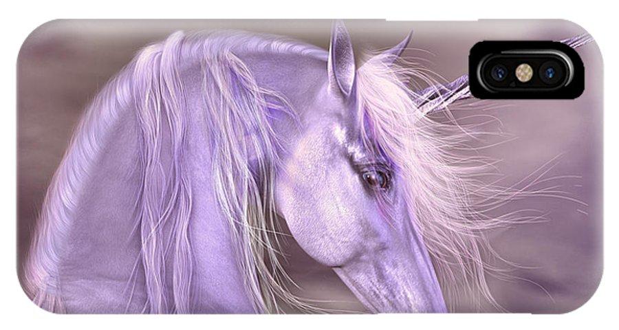 Unicorn IPhone X Case featuring the digital art 'legend' by Sylvia De Klerk