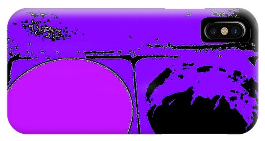 Digital Art IPhone X Case featuring the digital art Lemon Razz Ice 13 by Nina Kaye