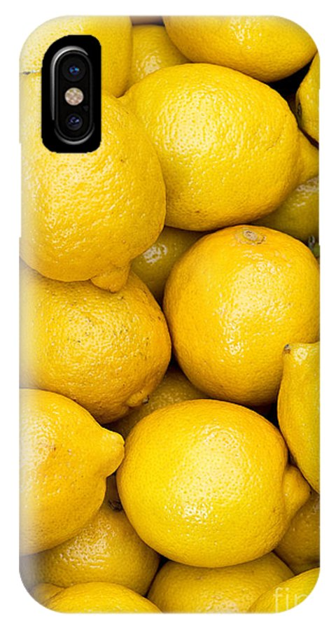 Lemons IPhone X Case featuring the photograph Lemons 02 by Rick Piper Photography