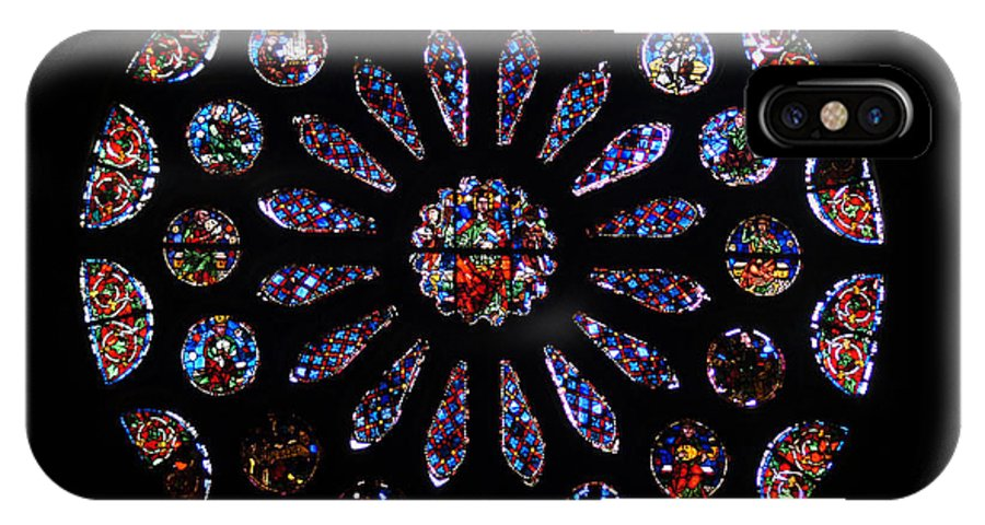 Europe IPhone X Case featuring the photograph Leon Spain Cathedral Rosette by Rudi Prott