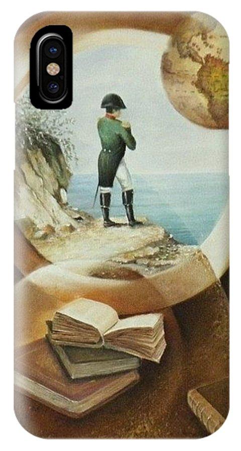 Napoleon IPhone X Case featuring the painting Les Sources De La Meditation by Frank Godille