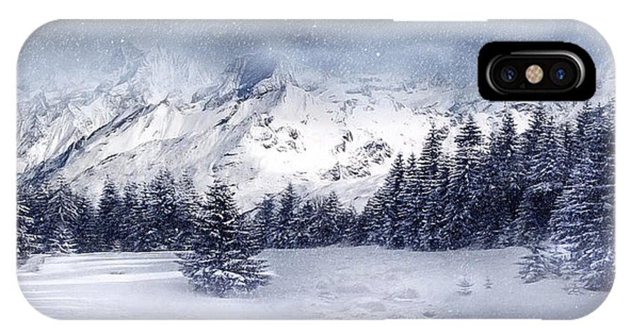 Beautiful IPhone X Case featuring the digital art Let It Snow by Svetlana Sewell