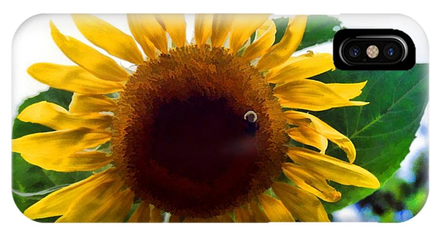 Floral IPhone X Case featuring the photograph Let Me Bee by Jan Amiss Photography