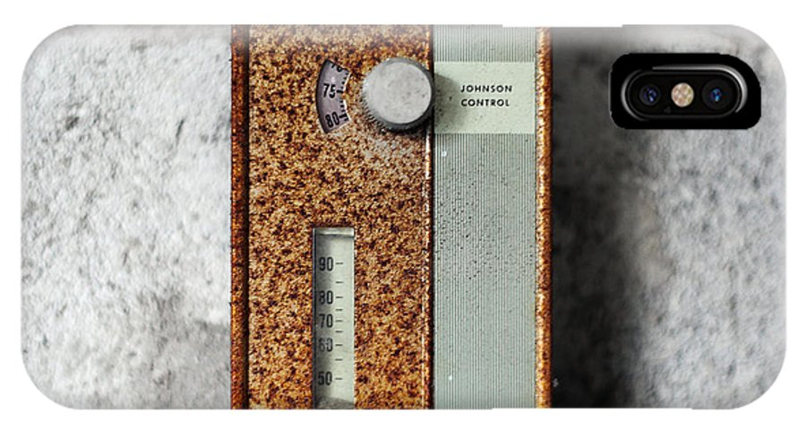 Letchworth IPhone X Case featuring the photograph Letchwoth Village Thermostat by W Scott Phillips