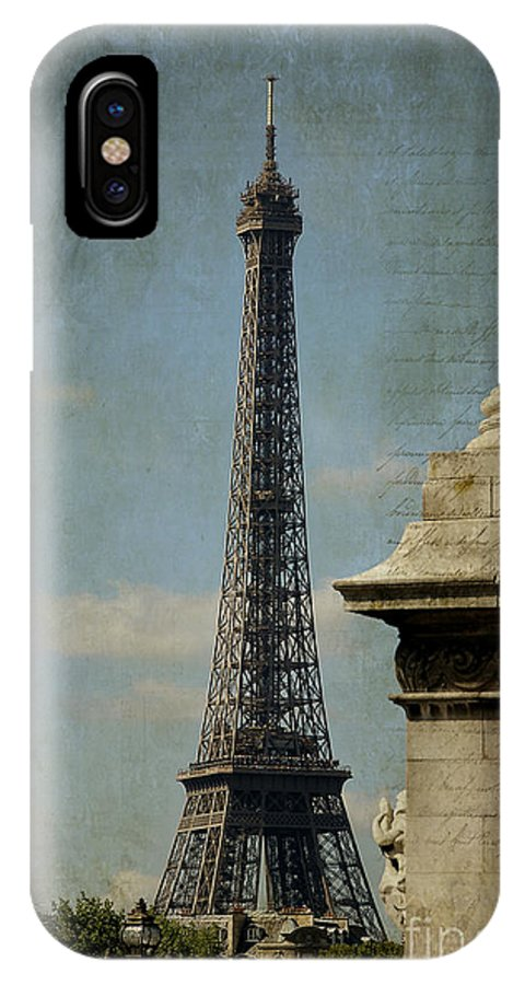 Photography IPhone X Case featuring the photograph Letter From Paris by Ivy Ho