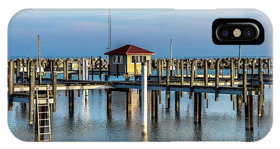 Lexington IPhone X Case featuring the photograph Lexington Harbor With No Boats by Ronald Grogan