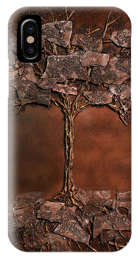 Winter IPhone X Case featuring the mixed media Lhiver by Mathieu Francoeur