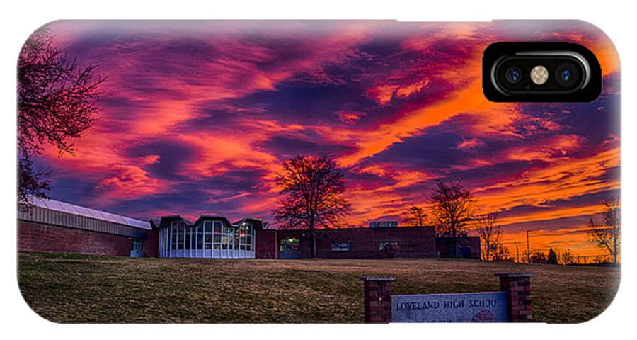 Sunset IPhone X / XS Case featuring the photograph Lhs Sunset by Dick Knapp