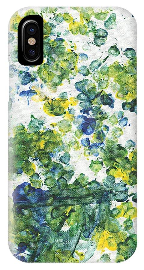 Dandelion IPhone X Case featuring the painting Lians Dandelions by Antony Galbraith