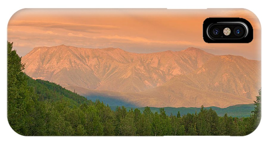Adventure IPhone X Case featuring the photograph Liard River Valley Alaska Highway Bc Canada Sunset by Stephan Pietzko