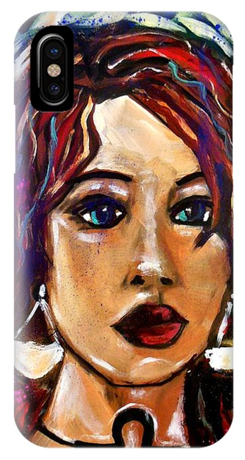 Libra IPhone X Case featuring the painting Libra by Kimberly Dawn Clayton