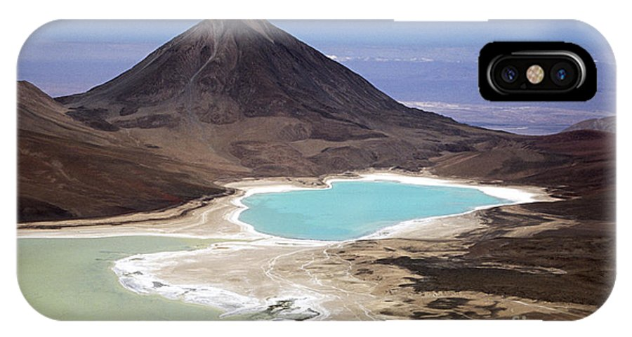 Bolivia IPhone X Case featuring the photograph Licancabur Volcano And Laguna Verde by James Brunker