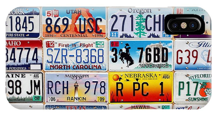 Licence IPhone X Case featuring the photograph Licence Plates by Sophie Vigneault