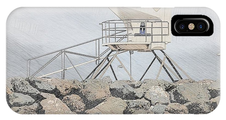 Beach IPhone X Case featuring the photograph Life Guard Tower by Ryan Wadsworth