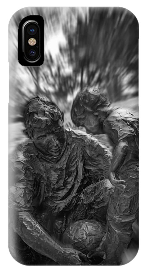 Statue IPhone X Case featuring the photograph Life Lessons by Randy Davidson