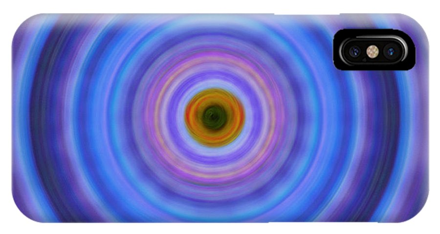Circles IPhone X Case featuring the painting Life Light - Abstract Art By Sharon Cummings by Sharon Cummings