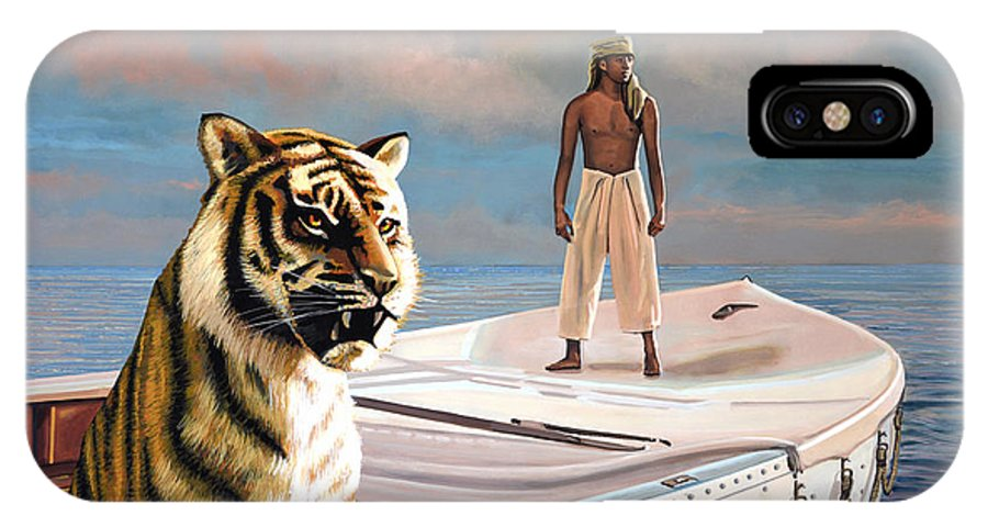 Life Of Pi IPhone X Case featuring the painting Life Of Pi by Paul Meijering